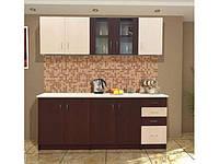 Кухня Венера 2.0 м светлый/темный венге (Світ Меблів ТМ)