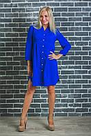 Стильная женская туника-платье электрик, фото 1
