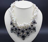 Жемчужное ожерелье с подвесками