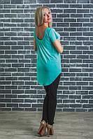 Стильная  женская футболка мята