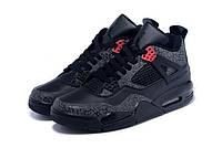 Кроссовки мужские Баскетбольные Nike Air Jordan 4 black grey