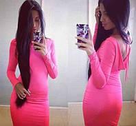 Женское платье мини обтягивающее
