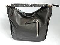 Коричневая сумка мешок 0573
