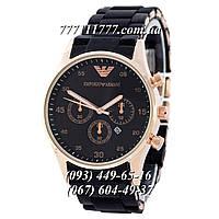 Часы мужские наручные Emporio Armani Silicone Gold-Black