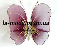 Бабочка для гардин и штор большая 20*18 см бордо