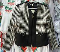 Школьный пиджак для девочки (гусиная лапка)
