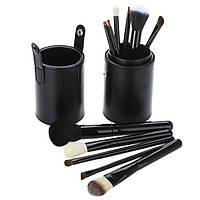 Профессиональный набор кистей для макияжа  MAC в тубусе 12 штук