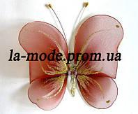 Бабочка для гардин и штор большая 20*18 см коричневая