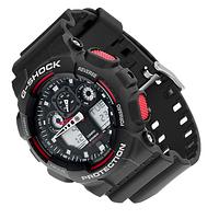 Часы мужские наручные Casio G Shock черно-красные,  спортивные часы Касио Джи Шок