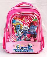 Школьный рюкзак 1-2 класс + Пенал. Ортопедический ранец Смурфики для девочек. Портфель первоклассника!