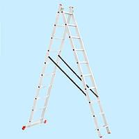 Лестница универсальная двухсекционная INTERTOOL LT-0210 (4,81 м)