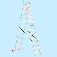 Лестница универсальная двухсекционная INTERTOOL LT-0212 (5,93 м)