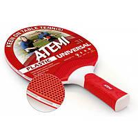Ракетка для настольного тенниса Atemi Plastic Universal Red