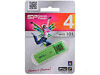 Флешка Silicon Power Helios 101 4GB Green , фото 1
