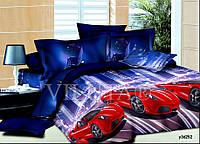 Детское постельное белье 252 Гонки  поплин ТМ Вилюта голубой полуторный