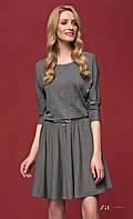Женское трикотажное платье серого цвета с рукавом три четверти. Модель Altea Zaps.
