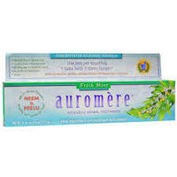 Auromere, Аюрведическая зубная паста на травах, свежая мята,  (117 гр)