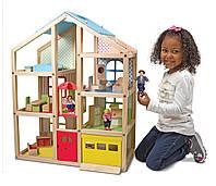 Кукольный домик с подъемником и мебелью, Melissa&Doug
