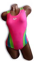 Купальник женский спортивный для бассейна. Arena. Розовый. 2085.1