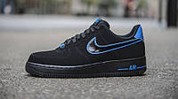"Кроссовки Nike Air Force 1 Low ""Black/Photo Blue"""