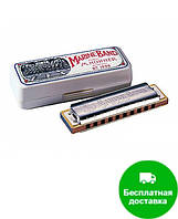 Губная гармошка Hohner М1896056 E-major Marine Band