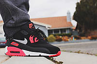"Кроссовки Nike Air Max 90 Essential ""Black/Atomic Red"""