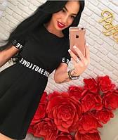Женское модное черное платье