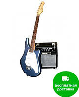 Гитара электро EKO K-SC1 - blue sparkle