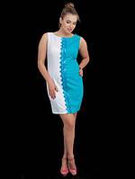Женское платье в два цвета большого размера