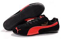 Мужские кроссовки Puma Ferrari Speed Cat (пума феррари) черные