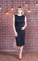 Стильное женское платье черного цвета