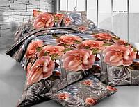 Двуспальный набор постельного белья Ранфорс №204