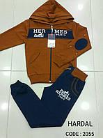 Спортивный костюм для мальчиков подростков HERMES горчичный