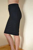 Юбка женская черная ниже колена классика