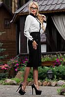 Элегантная Женская Юбка в Офис Черная  р. М по 2XL