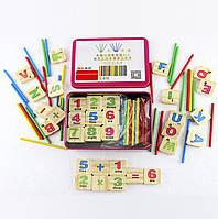 Набор, игра Занимательная арифметика и английский алфавит, развивающие, обучающие игрушки