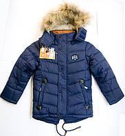 Детская зимняя куртка с мехом, для мальчика