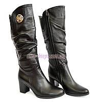 Сапоги женские кожаные зимние на каблуке, 37 и 39 размер в наличии
