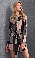 Женское стильное платье-рубашка с длинным рукавом. Модель Lawana Zaps.
