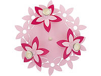 FLOWERS  PINK III plafon okrągły