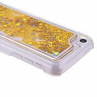 Чехол для iPhone 5C жидкий с блестками