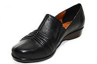 Осенние женские кожаные туфли на низком ходу