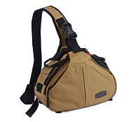 Сумка-рюкзак Caden K1 для зеркальных фотоаппаратов Nikon, Canon, Sony, Pentax - Хаки