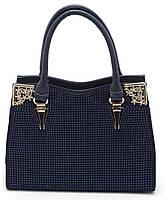 Женская сумочка с красивыми синими стразами Б/Н art. 8815 синий цвет