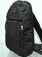 Стильный городской повседневный рюкзак на одно плечо ONE POLAR 2191 черный