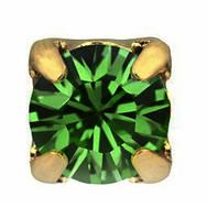 Стразы в золотых цапах Swarovski 17704 Gold Emerald