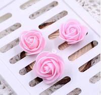 Розы из фомирана 3 см светло розовые