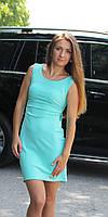 Молодежное женское платье с открытой спиной мята