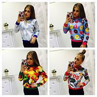 Свитшот женский яркие модные расцветки SSm01