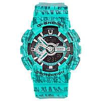 Часы  G-Shock - GA-110, стальной бокс, цвет  blue energy